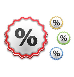 Percent Icon vector image vector image
