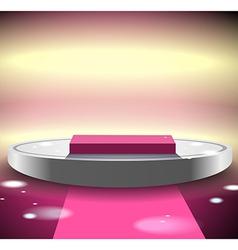 Pink disco podium vector image vector image