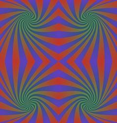 Seamless hypnotic swirl pattern background vector