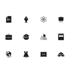 set of 12 editable knowledge icons includes vector image