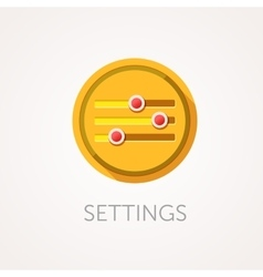Settings Icon Flat design style with long shadow vector image vector image