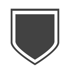 shield protection insignia honorary vector image