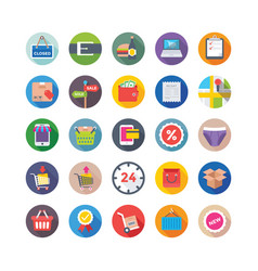 shopping and commerce icons 2 vector image vector image