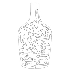 Silhouettes of drunken bodies vector
