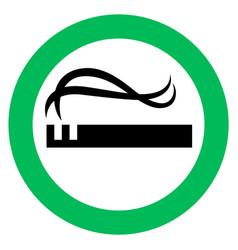 Smoking area sign vector
