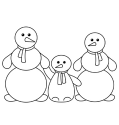 snowballs family contours vector image vector image