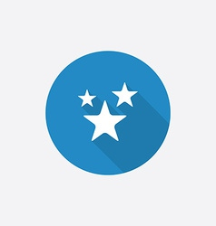 stars Flat Blue Simple Icon with long shadow vector image