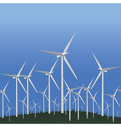 Wind Alternative energy station vector image vector image