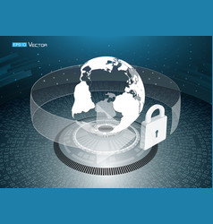 world data security vector image