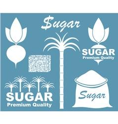 Sugar icon vector