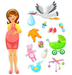 waiting for a baby vector image