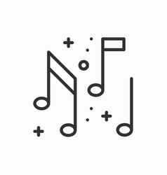music notes icon disco dance nightlife club vector image