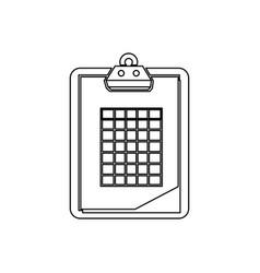Golf clipboard isolated icon vector