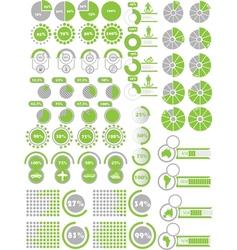 INFOGRAPHICS ELEMENTS 2 GREEN vector image