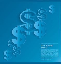 Dollar signs on blue background vector