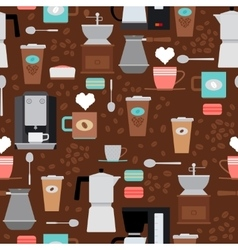 Coffee shop seamless pattern vector