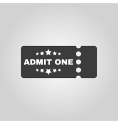 The ticket icon ticket symbol flat vector
