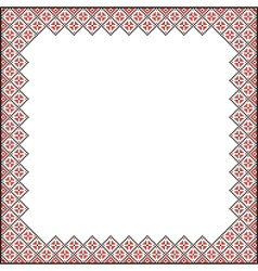 Square pattern for embroidery vector