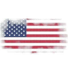 American flag halftone vector