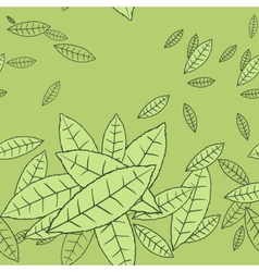 Pattern of fly leaves seamless background vector image