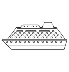 Line cruiseship icon vector