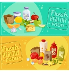Daily meal banners vector
