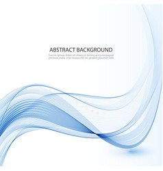 Abstract background blue waved lines for vector