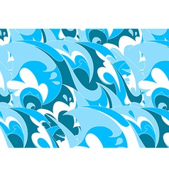 Abstract blue wave in a repeat pattern vector image
