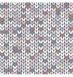 abstract knit pattern vector image
