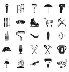 Accoutrement icons set simple style vector