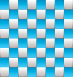 Checkered board blue vector image