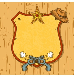Cowboy sketch background vector image vector image