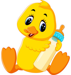 cute baby duck cartoon vector image