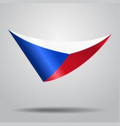 czech flag background vector image