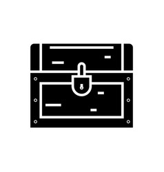 Dower chest icon black sign vector