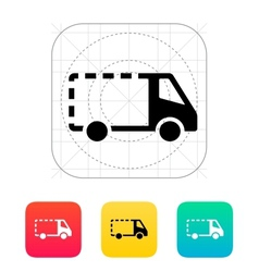 Empty delivery minibus icon vector