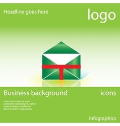 envelope mail business background vector image vector image