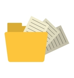 folder file document information vector image