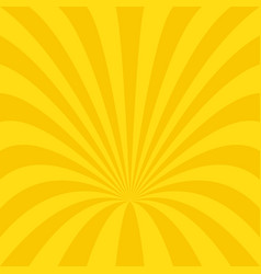 golden curved ray burst background design - vector image