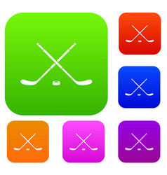 hockey set collection vector image