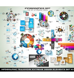 Infographic teamwork mega collection brainstorming vector