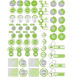 Infographics elements 2 green vector
