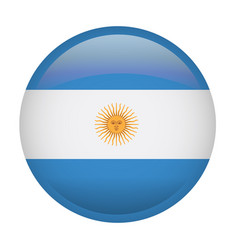Isolated argentina flag vector