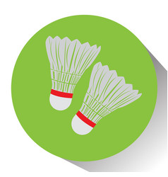 Isolated pair of badminton shuttlecocks vector
