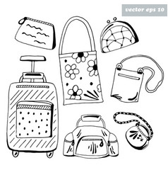 luggage set vector image vector image