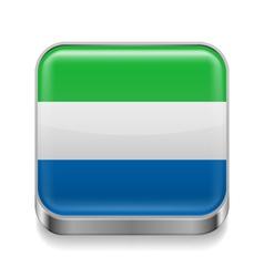 Metal icon of sierra leone vector