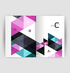 mosaic triangle annual report template vector image
