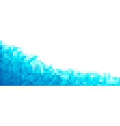 Pixel blue Background for card or poster - vector image vector image