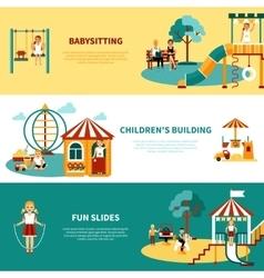 Playground Flat Banner vector image