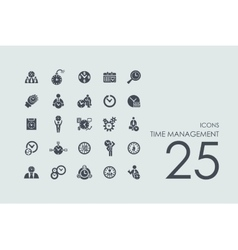 Set of time management icons vector